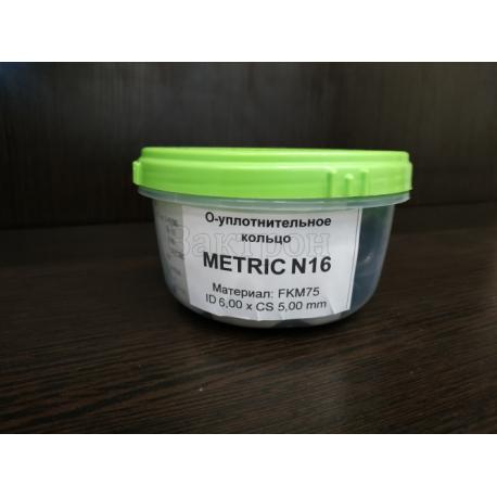 Витоновое уплотнение METRIC N16 ID 16,00 x CS 5,00 mm (75B) FKM75